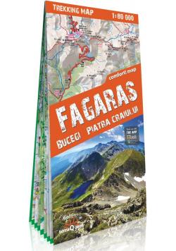 Fagaras, Bucegi, Piatra Craiului laminowana mapa trekingowa 1:80 000