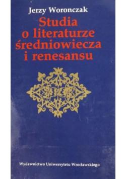 Studia o literaturze średniowiecza i renesansu