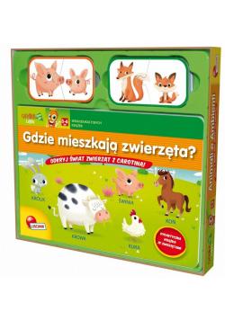 Książeczki Carotiny - Gdzie mieszkają zwierzęta?