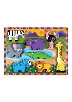 Układanka drewniana Zwierzaki safari