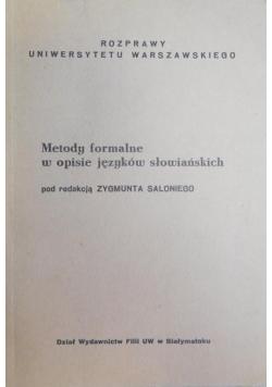 Metody formalne w opisie języków słowiańskich