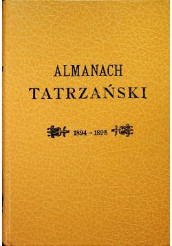 Almanach Tatrzański reprint z  194 r