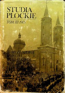 Studia płockie tom III