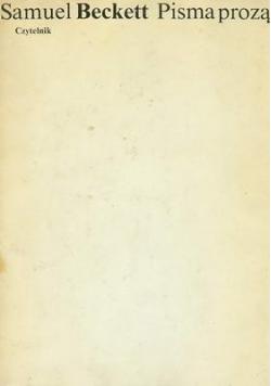 Beckett Pisma prozą