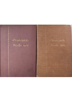 Chrześcijańska filozofia życia II Tomy ok 1931 r.