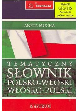 Tematyczny słownik polsko - włoski włosko - polski plus Rozmówki CD Nowa