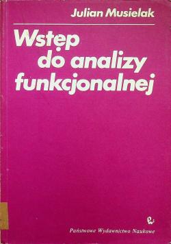Wstęp do analizy funkcjonalnej