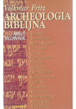 Archeologia biblijna Mały słownik