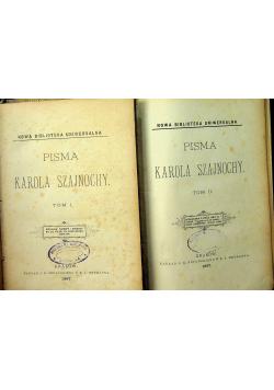 Pisma Karola Szajnochy 2 tomy 1887 r