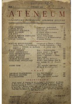 Ateneum  nr 1 1938 r.