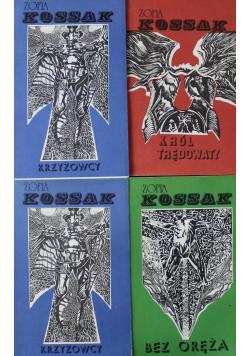 Krzyżowcy / Bez oręża / Król trędowaty 4 książki