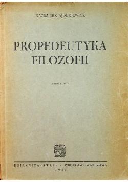 Propedeutyka filozofii 1950 r.