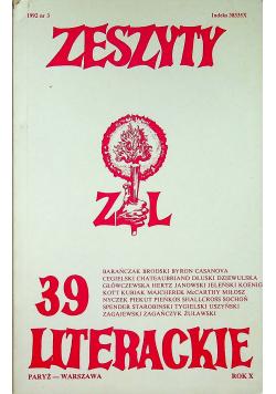 Zeszyty literackie 39