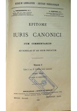 Epitome Iuris Canonici Tom I 1924 r