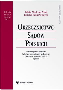 Orzecznictwo Sądów Polskich 6/2021