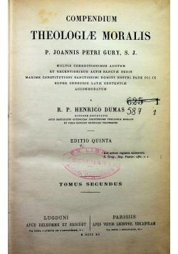 Compendium Theologiae Moralis Tomus Secundus 1885 r