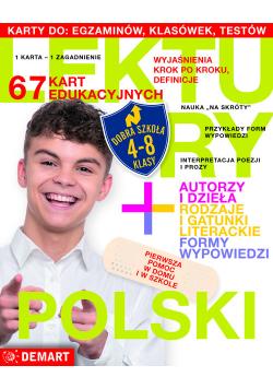 Karty edukacyjne Klasy 4-8 Polski Lektury