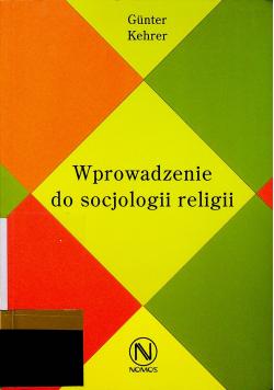 Wprowadzenie do socjologii religii