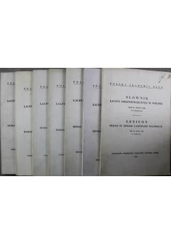 Słownik łaciny średniowiecznej w Polsce 7 tomów
