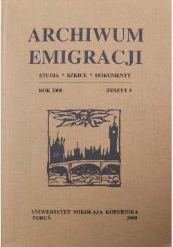 Archiwum Emigracji tom 9  zeszyt  3