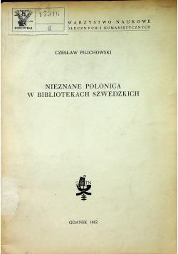 Nieznane polonica w bibliotekach szwedzkich