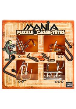 Łamigłówki metalowe 4szt Puzzle mania pomarańcz G3