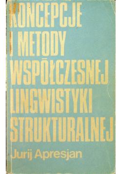Koncepcje i metody współczesnej lingwistyki strukturalnej Dedykacja od Zygmunta Saloni