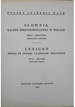 Słownik łaciny średniowiecznej w Polsce Tom II Zeszyt 10