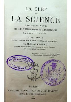 La clef de la science 1881 r