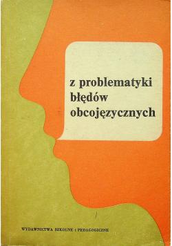 Z problematyki błędów obcojęzycznych