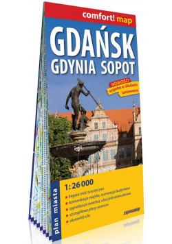Comfort! map Gdańsk, Gdynia, Sopot plan miasta