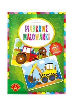 Piaskowe malowanki - Koparka i Traktor ALEX