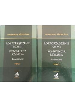 Rozporządzenie Rzym I Konwencja rzymska Komentarz 2 tomy