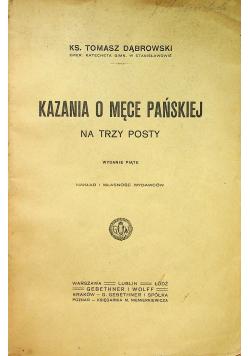 Kazania o męce pańskiej na trzy posty 1906 r.