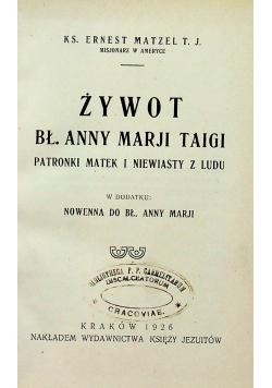 Żywot Bł Anny Marji Taigi 1926 r