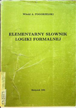 Elementarny słownik logiki formalnej