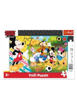 Puzzle ramkowe 15 Mickey na wsi TREFL