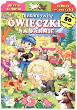 Niesamowite owieczki na farmie
