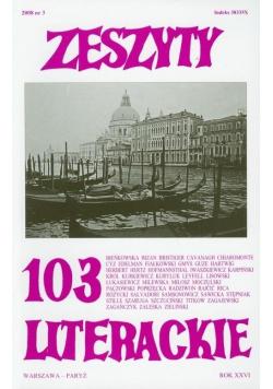 Zeszyty literackie 103 3/2008