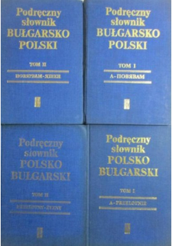 Podręczny Słownik Bułgarsko Polski 4 tomy