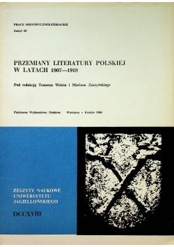Przemiany literatury polskiej w latach 1907 - 1918