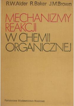 Mechanizmy reakcji w chemii organicznej