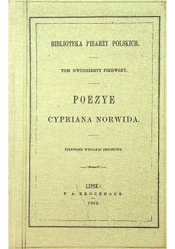 Poezye Cypriana Norwida reprint z 1863 r.