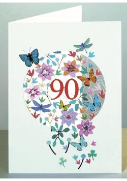 Karnet F90 wycinany + koperta Urodziny 90