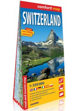 Szwajcaria Switzerland laminowana mapa samochodowo-turystyczna 1:350 000
