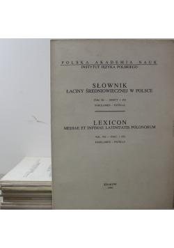 Słownik łaciny średniowiecznej w Polsce tom VII  11 zeszytów