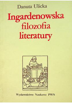 Ingardenowska teoria literatury