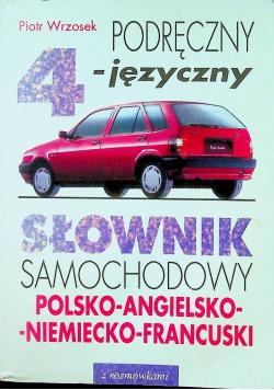 Słownik samochodowy Polsko Angielski Niemiecko Francuski