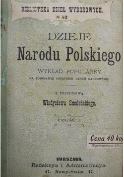 Dzieje Narodu Polskiego część I 1898 r.