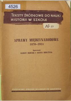 Sprawy międzynarodowe 1870 1914